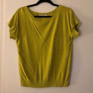 Chartreuse sweater top